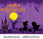 halloween party. pictures of... | Shutterstock .eps vector #1840123312