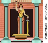 lady of justice femida or... | Shutterstock .eps vector #1840149052