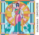 lady of justice femida or... | Shutterstock .eps vector #1840149058