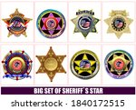 Sheriff's Badge On A White...