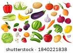 fruits and vegetables seasonal...   Shutterstock .eps vector #1840221838
