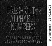set of hand drawing alphabet... | Shutterstock .eps vector #184023626