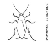 cockroach pest  contour vector... | Shutterstock .eps vector #1840241878