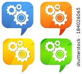 call out   technical discussion | Shutterstock . vector #184026065