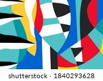 abstract colorful geometric... | Shutterstock .eps vector #1840293628