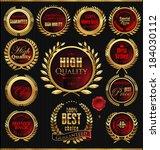 premium quality golden... | Shutterstock .eps vector #184030112
