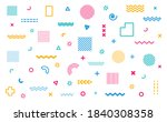 geometric abstract elements in... | Shutterstock .eps vector #1840308358