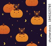 Seamless Halloween Pattern With ...