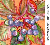 abstract background with grapes.... | Shutterstock . vector #184033706