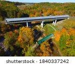 Scenic Covered Bridge In...