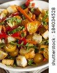 traditional healthy panzanella... | Shutterstock . vector #184034528