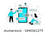 abstract concept of creating... | Shutterstock .eps vector #1840361275