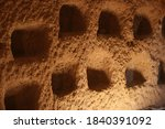 Rock Sandstone Wall Of An...