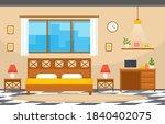 bedroom sleeping room bed...   Shutterstock .eps vector #1840402075