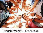 summer holidays and teenage... | Shutterstock . vector #184040558