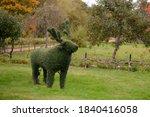 Sculpture Of A Tree Deer In...