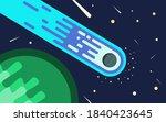 a blue light comet streaking... | Shutterstock .eps vector #1840423645