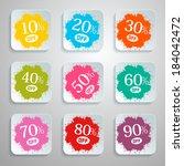 discount splash   paper labels... | Shutterstock . vector #184042472