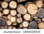 Firewood Pile  Pattern With...