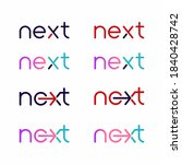 next word with arrow letter... | Shutterstock .eps vector #1840428742
