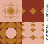 retro modernism geometric... | Shutterstock .eps vector #1840429108