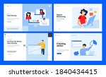 set of website template designs ... | Shutterstock .eps vector #1840434415