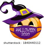halloween 2020 pumpkin vector... | Shutterstock .eps vector #1840440112