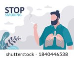 male character smoking... | Shutterstock .eps vector #1840446538