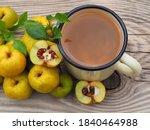Ripe Yellow Fruit Of The Shrub...