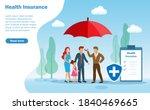 insurance agent holding...   Shutterstock .eps vector #1840469665
