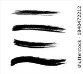 abstract black ink paint stroke ...   Shutterstock .eps vector #1840472212