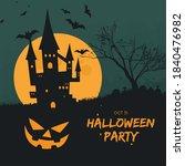 happy halloween poster vector... | Shutterstock .eps vector #1840476982