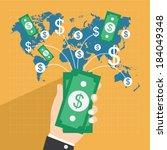 collect money  flat design... | Shutterstock .eps vector #184049348