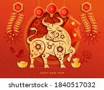 chinese new year 2021 greeting... | Shutterstock .eps vector #1840517032