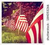 instagram style row of us flags ... | Shutterstock . vector #184053266