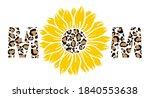 leopard sunflower mom print...   Shutterstock .eps vector #1840553638