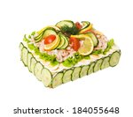 sandwich layer cake isolated on ... | Shutterstock . vector #184055648