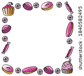sweets banner. isolated... | Shutterstock .eps vector #1840582495