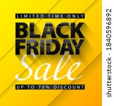 black friday sale vector banner.... | Shutterstock .eps vector #1840596892