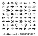 arrows big black icon set.... | Shutterstock .eps vector #1840605022
