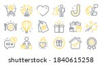 set of holidays icons  such as... | Shutterstock .eps vector #1840615258