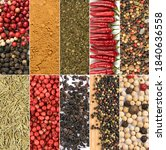 Spice Collage. Various Pepper...