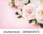 Delicate Blossoming Pink And...