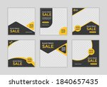 set of editable minimal square... | Shutterstock .eps vector #1840657435