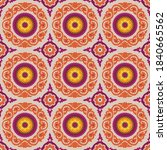 central asian suzani textile...   Shutterstock .eps vector #1840665562