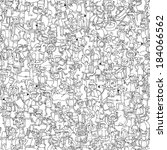 Dance Party Seamless Pattern...