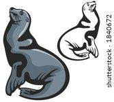 vector illustration of a seal. | Shutterstock .eps vector #1840672