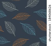 seamless colorful leaves... | Shutterstock .eps vector #184068626
