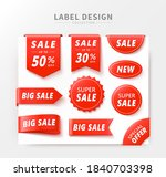 set of price tags with various... | Shutterstock .eps vector #1840703398