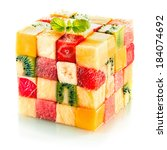 Fruit Cube Formed From Small...